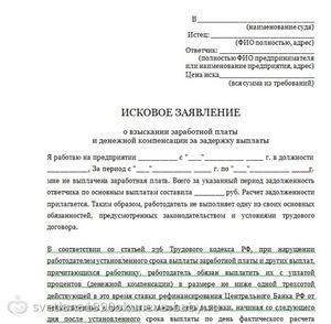образец искового заявления на ввод в эксплуатацию img-1