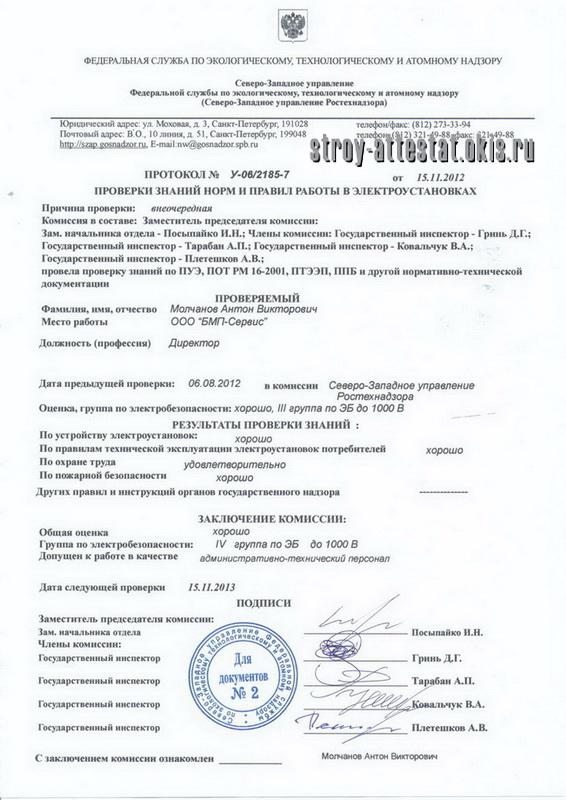 приказ ответственного за электрохозяйство в школе образец