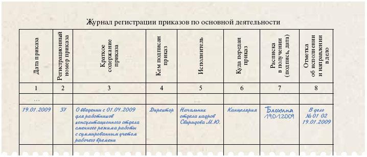 образец журнала регистрации приказов по основной деятельности скачать - фото 6
